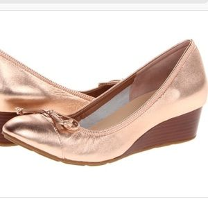 Cole Haan Rose Gold Air Tali Wedges